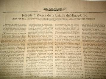 RESEÑA HISTORICA DE LA BATALLA DE HIGOS URCO